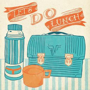 Lets Do Lunch Orange by Mary Urban
