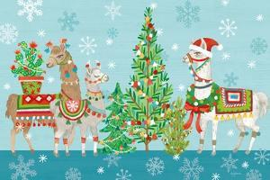 Lovely Llamas Christmas VIII by Mary Urban