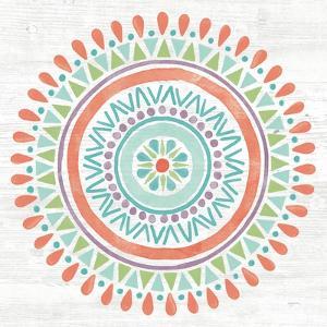 Lovely Llamas Mandala I by Mary Urban