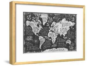 Beautiful world maps framed posters artwork for sale posters and mythical map i mary urbanframed art gumiabroncs Image collections