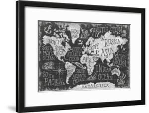 Beautiful World Maps Framedposters Artwork For Sale Posters And - White framed world map