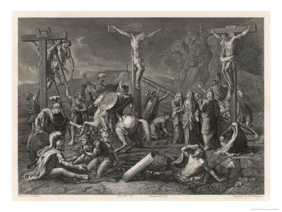 Mary Watches Soldiers Play Dice Jesus and His Companions Slowly Die- Egleton-Giclee Print