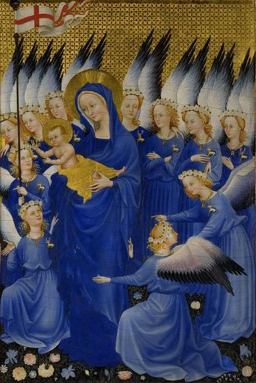 Mary with Child and Angels, Right Panel of Wilton Diptych--Giclee Print