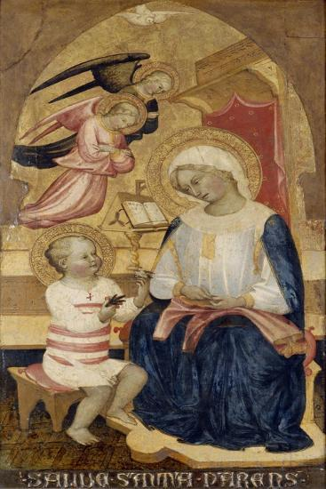 Mary with Jesus and Two Angels, C.1425--Giclee Print