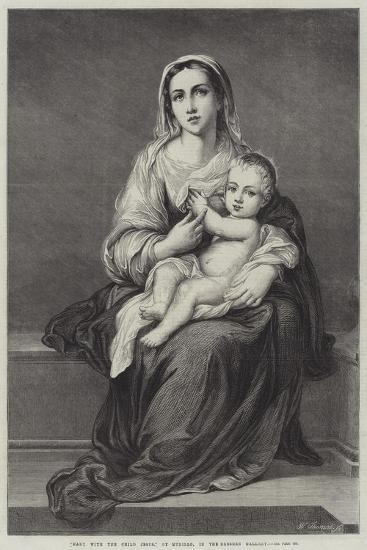 Mary with the Child Jesus-Bartolome Esteban Murillo-Giclee Print