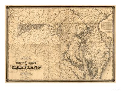 Maryland - Panoramic Map-Lantern Press-Art Print