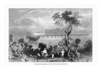 Maryland, View of the Columbia Bridge over the Susquehanna River-Lantern Press-Art Print