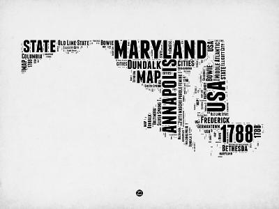 Maryland Word Cloud 2-NaxArt-Art Print