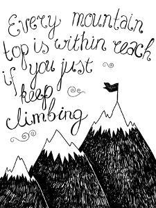 Hand Drawn Typography Poster. Inspirational Quote for Card. by Marylia
