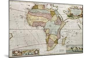 Africa Old Map. Created By Frederick Herman Moll, Published In London, 1710 by marzolino