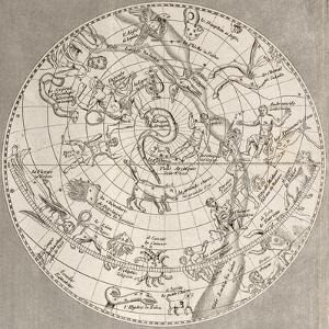 Antique Illustration Of Celestial Planisphere (Northern Hemisphere) With Constellations by marzolino