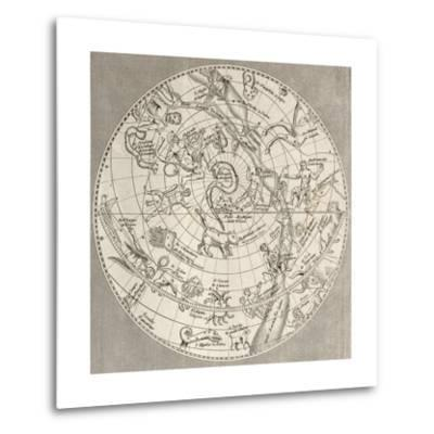 Antique Illustration Of Celestial Planisphere (Northern Hemisphere) With Constellations