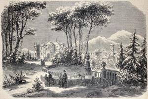 Antique Illustration Shows Villa Raimondi, In The Village Of Fino, Near Milan by marzolino