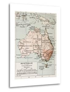 Australia Old Map. By Paul Vidal De Lablache, Atlas Classique, Librerie Colin, Paris, 1894 by marzolino