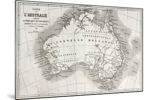 Australia Old Map by marzolino