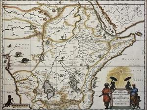 Ethiopia Old Map. Created By Joan Blaeu, Published In Amsterdam 1650 by marzolino