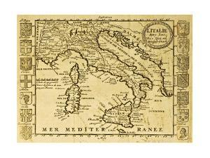 Italy Old Map by marzolino