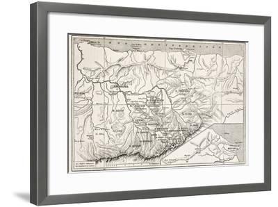 Kabylie Old Map, Algeria. Created By Erhard, Published On Le Tour Du Monde, Paris, 1867