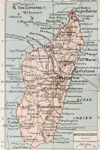 Madagascar Old Map by marzolino