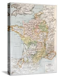 Medieval France Old Map (10th - 14th Century) by marzolino