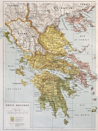 Old Map Of Ancient Greece