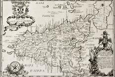 Old Sky Map Depicting Boreal And Austral Hemispheres With Constellations And Zodiac Signs-marzolino-Art Print