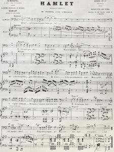 Old Reproduction Of Hamlet Score by marzolino