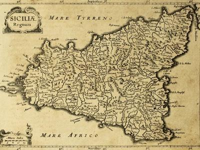 picture about Printable Map of Sicily identify Eye-catching Sicily art for sale, Posters and Prints