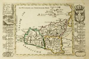 Sicily Old Map, May Be Dated To The Beginning Of The Xviii Sec by marzolino