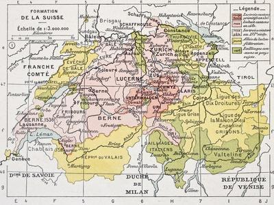 Switzerland Historical Development Old Map