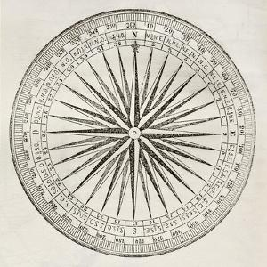 Wind Rose Old Illustration by marzolino