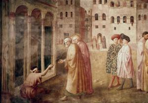 Healing of the Cripple by Masaccio
