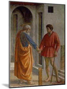 Saint Peter Hands the Tribute to the Tax Collector by Masaccio
