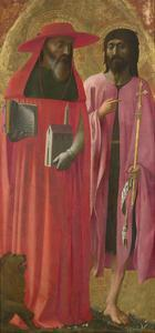 Saints Jerome and John the Baptist, Ca 1428-1429 by Masaccio