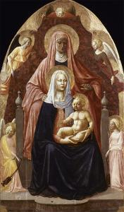 St. Anne, Madonna & Child. by Masaccio