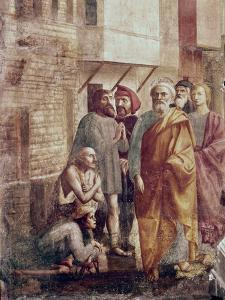 St. Peter Healing the Sick with His Shadow by Masaccio