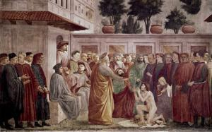 St. Peter Resurrects the Child of Theophilus by Masaccio
