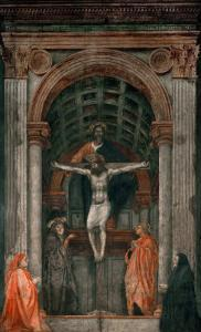The Holy Trinity, Fresco by Masaccio