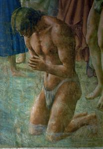 The neophyte, detail. by Masaccio