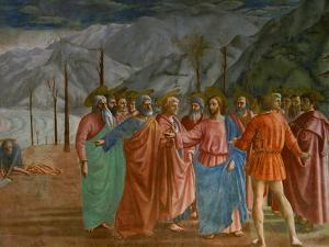 The Tribute Money, 1415-1428 by Masaccio