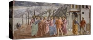 Tribute Money, 1425-27 by Masaccio