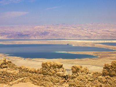 Masada Ruins, Dead Sea, Israel-Keren Su-Photographic Print
