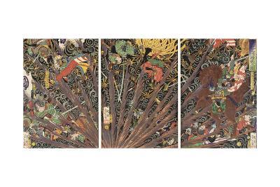 Masakiyo's Difficult Battle from the Taiheiki Chronicles, 1866--Giclee Print