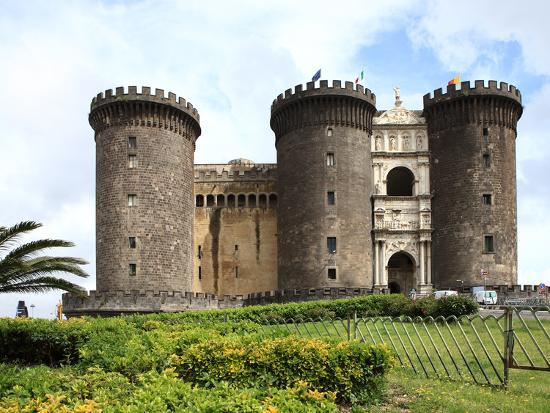 Maschio Angioino Castle (Castel Nuovo), Naples, Campania, Italy, Europe-Vincenzo Lombardo-Photographic Print