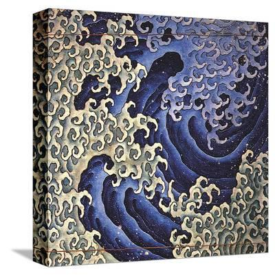 Masculine Wave (detail)-Katsushika Hokusai-Stretched Canvas Print