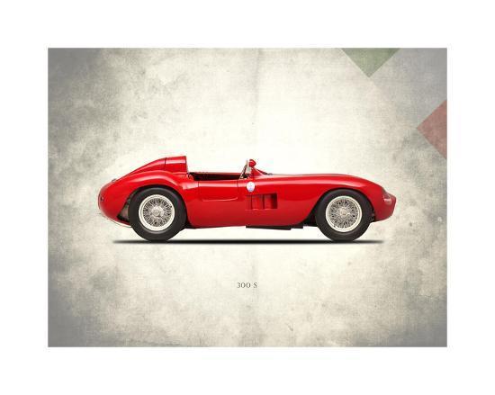 Maserati 300-S 1955-Mark Rogan-Giclee Print