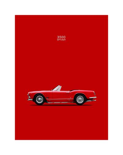 Maserati 3500 Spyder 1959-Mark Rogan-Giclee Print