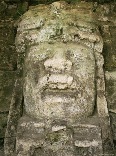Mask 4M High, Structure P9-56, Lamanai, Belize, Central America-Upperhall-Photographic Print