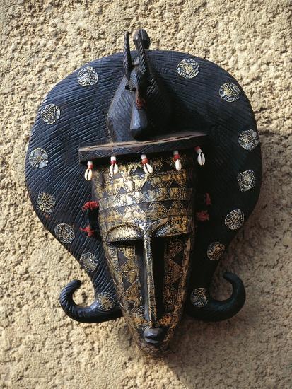 Mask, Bambara Art, Mali--Giclee Print