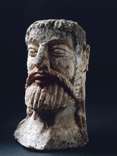 Mask Depicting Male Face, Tufa, 4th-2nd Century BC--Giclee Print